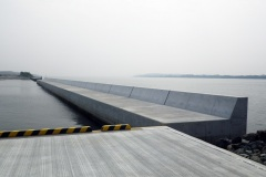 福岡県 アイランドシティ地区 奈多船だまり防波堤築造工事