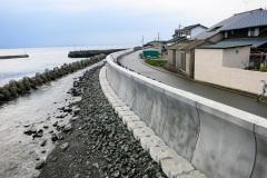 福岡県 相島漁港 波返設置工事